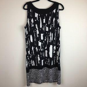 Dana Buchman Multi Patterned Shift Dress Workwear